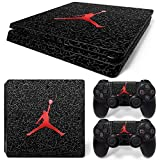 Elton Michael Jordan Logo Theme 3M Skin Sticker Cover for PS4 Slim Console and Controllers