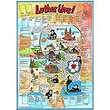 Luther live: Einzelposter mit Aufklebern. Reliposter