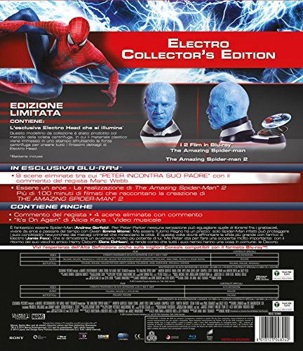 The amazing Spider-Man 1+2 (+testa – limited collector's edition) [Blu-ray] [IT Import] - 2