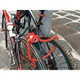 Newest Arrival Heavy Duty Anti Theft Mini Foldable Chain Lock Folding-Locks Hamburg-Lock Bicycle Cycle Cycling Locks RED Colors