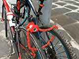 #10: Newest Arrival Heavy Duty Anti Theft Mini Foldable Chain Lock Folding-Locks Hamburg-Lock Bicycle Cycle Cycling Locks RED Colors
