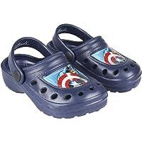 Marvel Avengers Boys Slip On Clogs Flip Flops Lightweight Garden Pool Beach Holiday Sandals, Captain America Design…