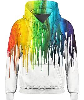 Fasuna Girl Boy Galaxy Fleece Print Cartoon Sweatshirt Pocket Pullover Hooded Sweatshirt