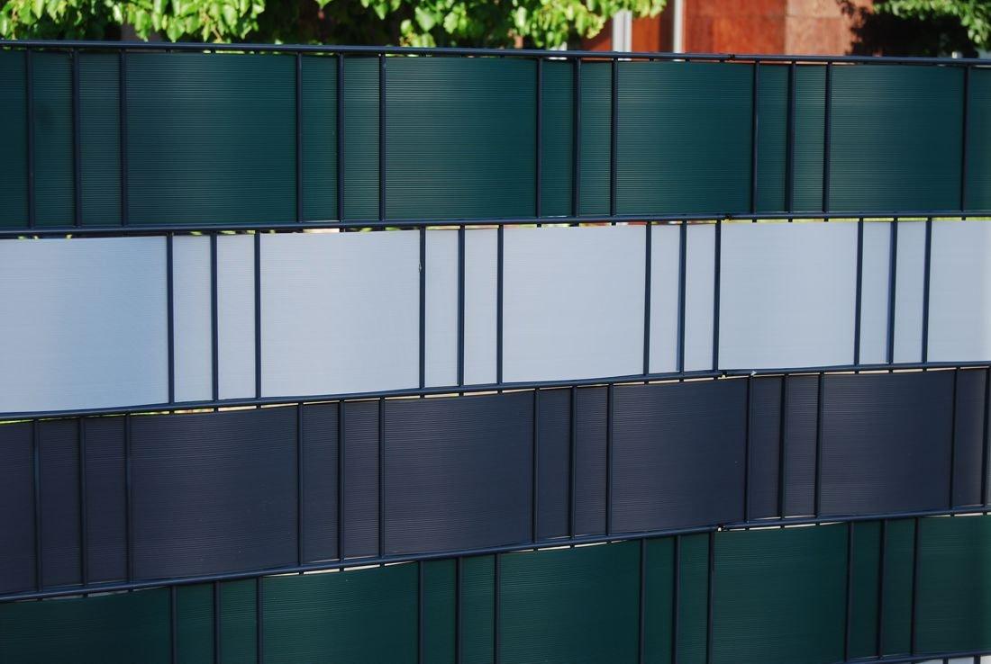 Hart PVC Sichtschutzstreifen 15 x in RAL7016 Amazon Garten