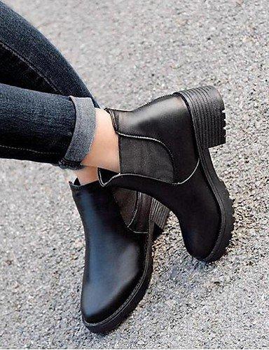 ShangYi Mode Frauen Schuhe Damen Stiefel Frühjahr / Herbst Springerstiefel PU-Kunstleder / Outdoor Ferse schwarz Andere Andere Schwarz