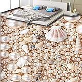 Wmbz 3D Wunderschöne Perlmutt Conch Dreidimensionale Bodenfliesen Benutzerdefinierte Große Wandgemälde Pvc Verschleißfeste Kunststofffolie-200X140Cm