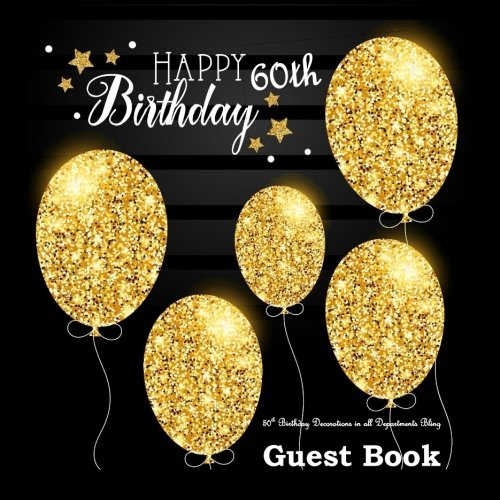 60th Birthday Decorations in All Departments: Bling GUEST BOOK Classy Silver Inside Foil Fleur de Lis End Pages 60th Birthday Decorations in Party ... all Departments (60th Birthday Guest ()