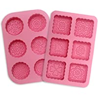 Amison - Lot de 2 moules en silicone avec 6 empreintes pour savon et pâtisserie