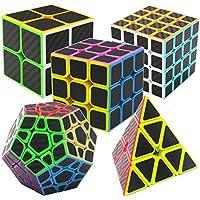 Speed Cube Ensemble Coolzon® Nouveau Cubo Autocollant de Carbone Fibre Ultra Rapide