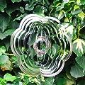 Hübschen Blumenförmige Wind Spinner, Garten Deko aus poliertes Stahl