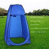 Qulista Outdoor ultraleicht Pop Up Zelt Duschzelt Trekkingszelt Schnell-Trocken, Campingtoilette Toilettenzelte für unterwegs privat blickdicht inklusive Tasche (Blau)