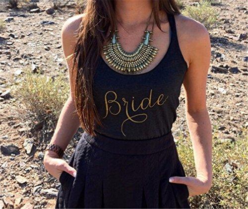QIYUN.Z T-Shirt De Mode Gilet De Coton Sans Manches Sexy Ete Lettre Imprimee Femmes Occasionnels Noir