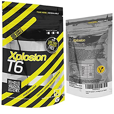 Simply Slim Xplosion T6 Fat Burner | Strong Slimming Pills | Xplosive T6 Fat Burners | Best Weight Loss Pills | Vegetarian Safe T6 Diet Pills | Genuine Weight Loss Tablets by SS Nutrition Ltd