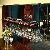 YANGMAN Weinflaschenhalter/Wandregal, zum Aufhängen, verstellbar, 60 x 30 cm, Schwarz