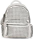 styleBREAKER zaino borsa a mano con borchie, chiusura a cerniera, borsa, da donna 02012226, colore:Bianco