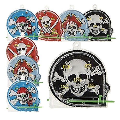 Unbekannt Partygeschenk Piratenparty - Sparset 8 Mini Flipperspiele Pirat Seeräuber Mitgebsel Kindergeburtstag