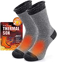 Winter Warm Thermal Socks for Men Women, Busy Socks Extra Thick Insulated Boot Heated Crew Socks For Extreme C
