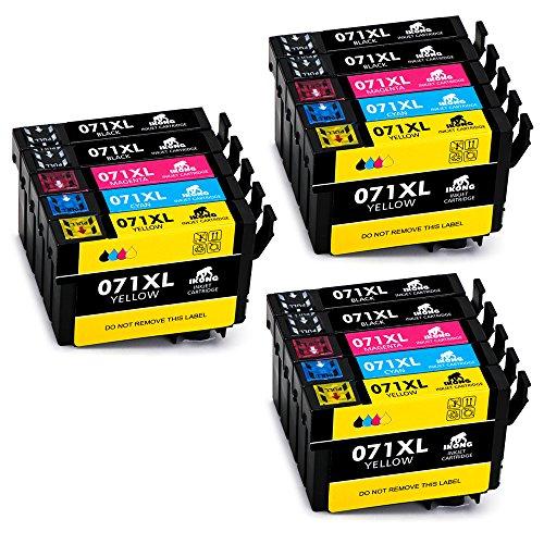 IKONG Compatibile Cartucce Epson T0711 T0712 T0713 T0714 T0715, Alto Rendimento, 15 Confezioni, Lavora con Epson Stylus SX218 SX400 SX200 SX410 SX415 SX100 SX110 SX105 SX115 SX205 BX3450F Stampante
