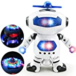 Storio Electric Smart Space Walking Dancing Robot Kids Toys for Boys with Music & 3D Lights & 360 Rotation