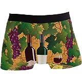 Ahomy, Boxer da Uomo, Biancheria Intima da Uomo, in Morbido Tessuto di Poliestere, Colore: Vinaccia