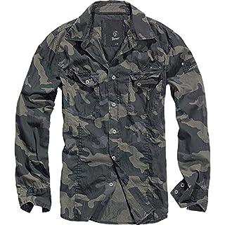 Brandit Men Slim Shirt Herren Hemd Darkcamo XL