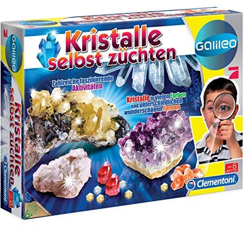 Galileo Kristalle selbst züchten, umfangreiches Zubehör, ab 8 Jahre: Experimentier Set Kasten mit Zubehör