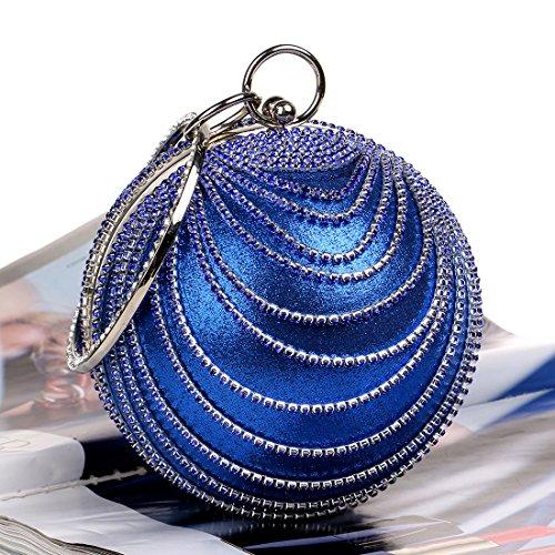 Sphärische, Tragbare, Abendessen Tasche, Hochwertige, Diamond, Ms -, Abend - Tasche, Hand - Tasche blue