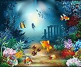 FOTOTAPETE UNTERWASSER FISCHE Nr:6TG-779 300x250cm Bildtapete Wandbild Bordüre wall mural wallpaper underwater
