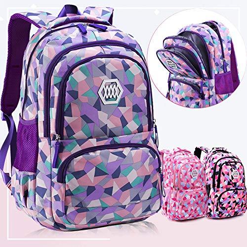 ZFLL SchultascheFrauen Rucksack Mädchen Schultasche Für Studenten Reiserucksäcke Laptop Schultaschen für Mädchen im Teenageralter Schultaschen von Luggage & Bags (Lila Rucksack Von Under Armour)