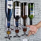 vetrineinrete® Spillatore dosatore con Supporto a Parete per 4 Bottiglie Stazione Bar Pub Dispenser liquori bibite Bevande P20