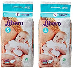 Libero Small Open Diaper (40 Counts) - Pack Of 2