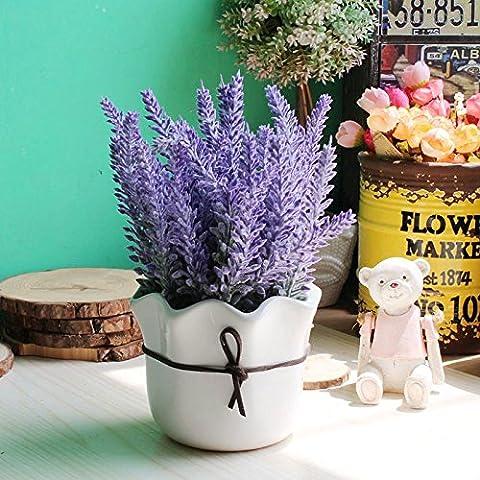 Continental Home Desktop fiori decorate soggiorno raccordi paratia Lavanda fiori di emulazione arte verde potted ,20*6cm,1,20*6cm Sik