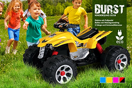 Kinder Elektro Quad BURST 2 x 35 Watt Motor Original Kinder Elektro Auto Kinderauto Kinderfahrzeug (schwarz/rot)