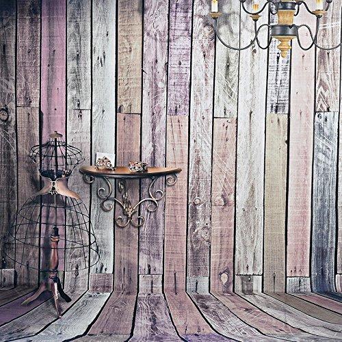 Boden Stoff-Studio Foto für Portraits 2.1x 1,5m, Draht im Holzbrett, Dekoration von Pendelleuchte Wand, Material Wasserdicht Halloween ()