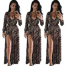 colori e suggestivi volume grande scegli l'autorizzazione Amazon.it: abito lungo leopardato - Marrone