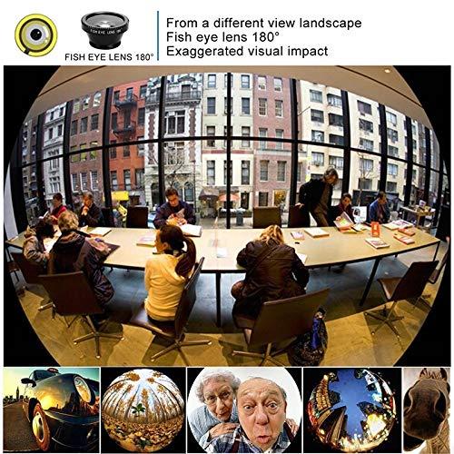 EisEyen - Set Obiettivo Fotocamera Fisheye, grandangolo, per iPhone XS/XS Max/XR/x/8 Plus, Samsung Galaxy Note s9/s8/s7 Rot