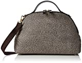 Borbonese Sexy Bag, Bolso de mujer, (Op Classic / Marrón), 36x24x16 cm (W x H x L)
