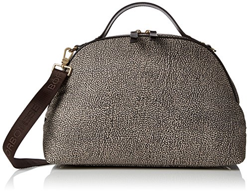 Borbonese Sexy Bag, Borsa a Mano Donna, (Op Classico/Marrone), 36x24x16 cm (W x H x L)