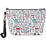 chaqlin Infermiera regalo cosmetica Borsa da viaggio Portatile piccolo sacchetto di trucco da toilette Organizzatore per donn