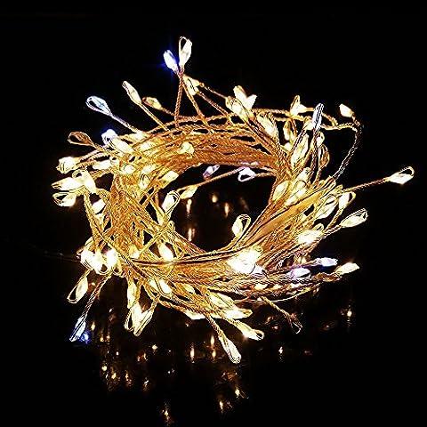 120 LED Warm Weiß Lichterkette, Vaxiuja USB-Buchse Ideal für Christmas, Festlich, Hochzeiten, Geburtstag, Party, New Year Dekoration, Drinnen und (Festliche Zitate Für Weihnachten)