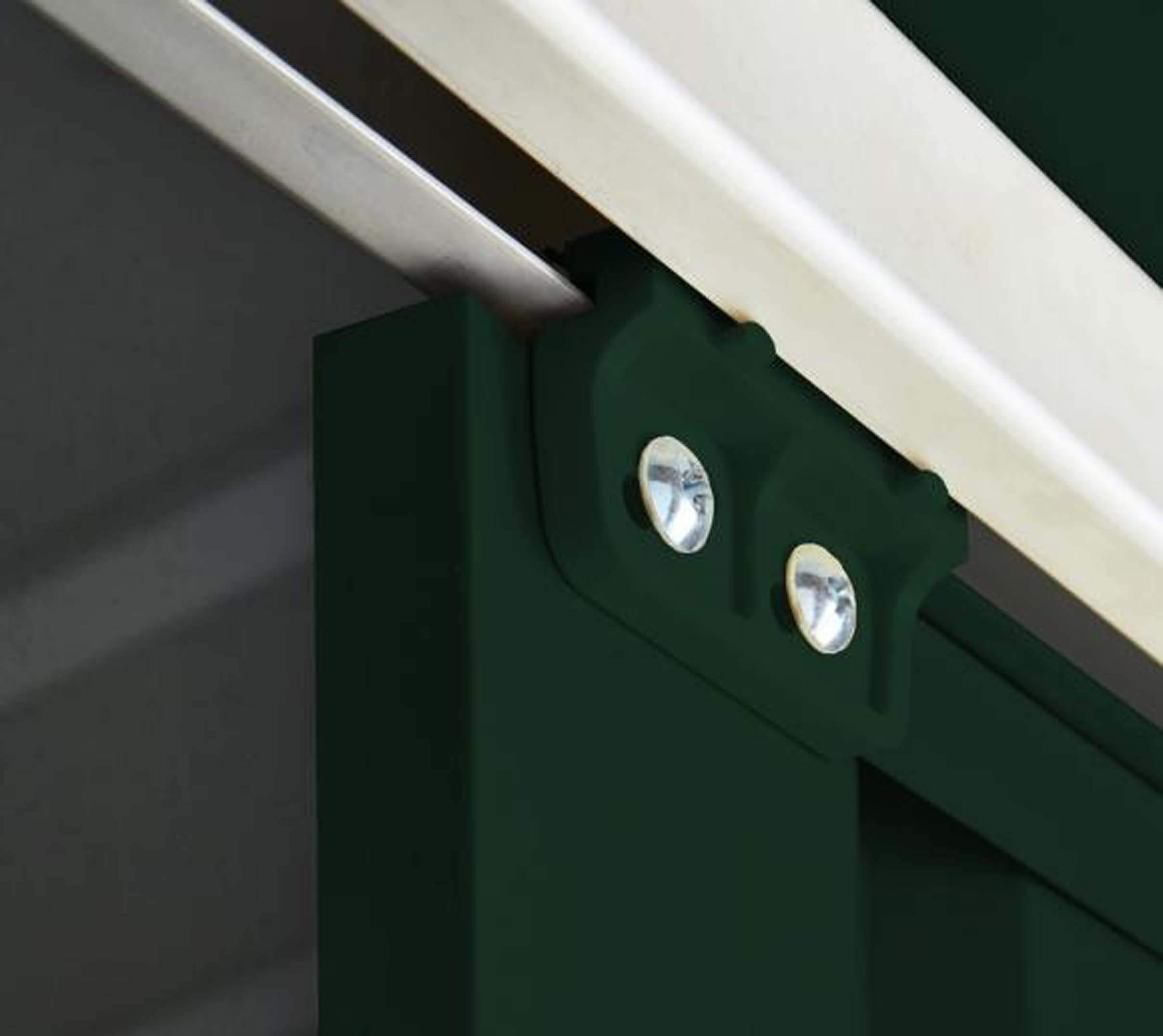 LOTUS 6×4 Apex Metal Shed Heritage Green