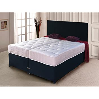 Sleepkings Black Zip And Link Bed Divan Bed Ortho Mattress And