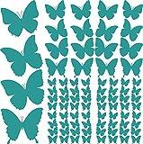Graz Design Wandtattoo Schmetterlinge Klein Groß | Für Wohnzimmer   Küche    Kinderzimmer | Wand Aufkleber 84 Stück Im Set   Mit Versch.
