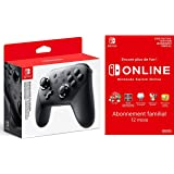 Manette Nintendo Switch Pro + Switch Online 12 Mois Famille [Download Code]