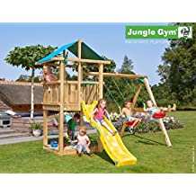 Parque infantil Hut 2swing X'tra JungleGym (Amarillo)