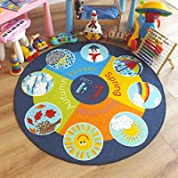 Superb Kids/Childs Rug Weather wheel Large Round 1.33m x 1.33m (4
