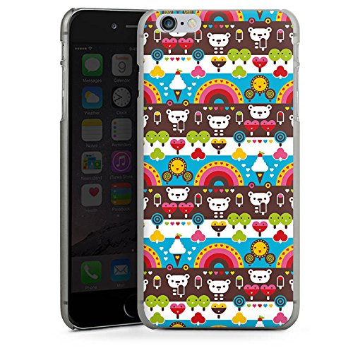 Apple iPhone X Silikon Hülle Case Schutzhülle Regenbogen Herzen Süßigkeiten Hard Case anthrazit-klar