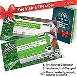 ZÄPFCHEN® Geschenk-Set: 1 - Die Kleine Therapie für VFL Wolfsburg-Fans   Für Fans mit VFL Wolfsburg Tasse, VFL Wolfsburg Kaffee-Becher, Handtuch & VFL Wolfsburg Fanartikel