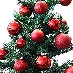 Set di 70 palle di Natale Ø4/5/6cm plastica rosso ornamento per l