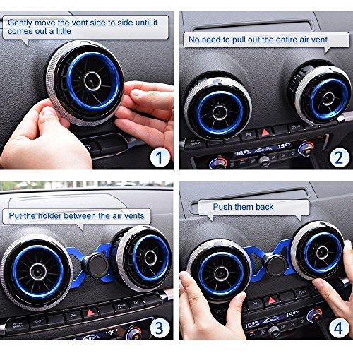 magnet phone holder for audi a3 s3 rs3 black buy. Black Bedroom Furniture Sets. Home Design Ideas